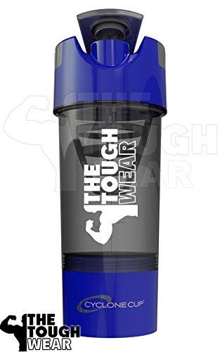Cyclone Cup Shaker, Blue with TheToughWear Logo