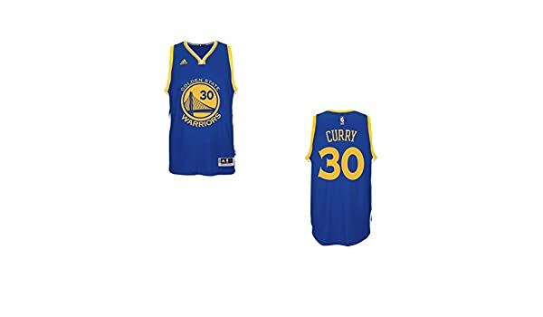 Camiseta de baloncesto para hombre de Stephen Curry de los Golden State Warriors. Diseño de adidas, color azul y dorado - 7470A-CURRY, Stephen Curry, S, ...