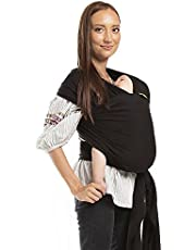 Boba Wrap Baby Carrier - Original Stretchy Infant Sling, Perfect for Newborn Babies and Children up to 35 lbs (Black)