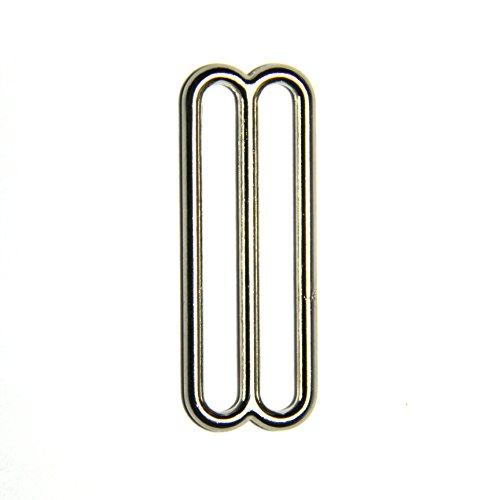 2 Inch Metal Triglide Slides, Nickel Plated (10 (Strap Fastener)