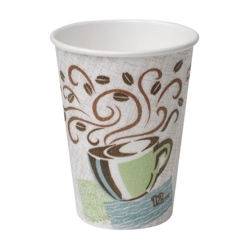 Dixie PerfecTouch 12 oz. Insulated Paper Hot Coffee Cup by GP PRO (Georgia-Pacific), Coffee Haze, 5342CDSBP, 160 Cups Per - Cup Disposable