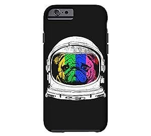 Astronaut Pug iPhone 6 Black Tough Phone Case - Design By Humans