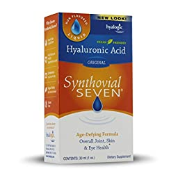 Hyalogic Synthovial Seven Hyaluronic Acid Liquid - HA Joint Support - Vegan - 1 oz