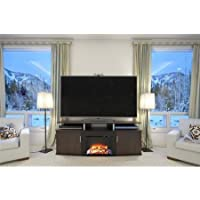 Carson Fireplace Tv Console for Tvs up to 65, Cherry and Black