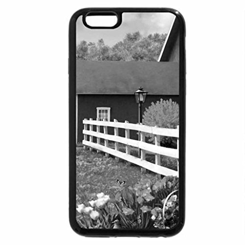 iPhone 6S Plus Case, iPhone 6 Plus Case (Black & White) - Countryside beauty