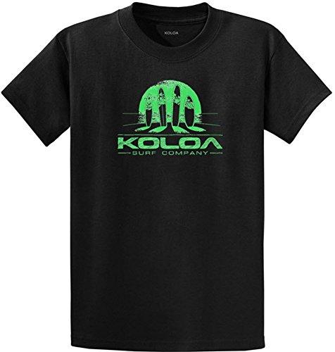 Koloa Surf Tall Surfboards at Sunset Logo Cotton T-Shirt-Black/green-4XLT