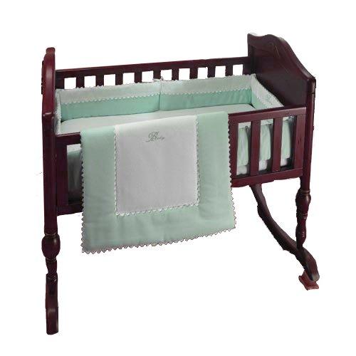 bkb Ric Rac Cradle Bedding, Green, 18'' X 36''