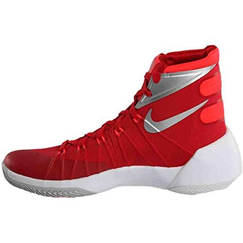 Nike Herren Hyperdunk 2015 Basketballschuh University Red / Bright Crimson / Weiß / Silber
