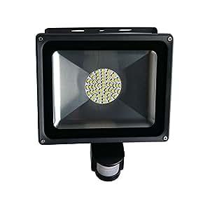 VLUNT 20W 30W 50W LED Sensor Floodlight PIR Motion Sensor Warm White led flood light Induction Sense Home Improvement