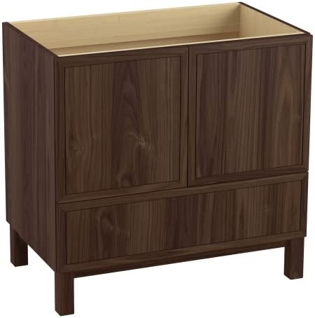 KOHLER K-99506-LG-1WE Jacquard 36-Inch Vanity with Furniture Legs, 2 Doors and 1 Drawer, Terry Walnut