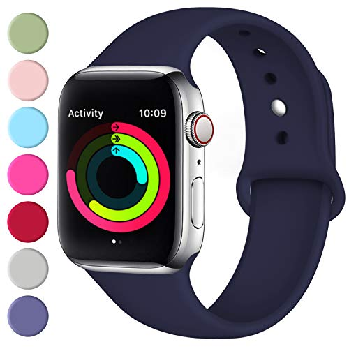 (Fuleda Compatible with Apple Watch Band 40mm 38mm, Navy Blue, S/M )