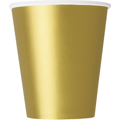 9oz Gold Paper Cups, 14ct