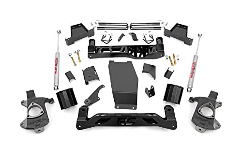 Rough Country - 226.20 - 6-inch Suspension Lift Kit (Factory Cast Steel Control Arm Models) w/ Premium N2.0 Shocks for Chevrolet: 14-18 Silverado 1500 4WD; GMC: 14-17 Sierra 1500 4WD