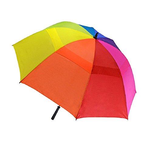 rainbow-multi-color-golf-umbrella-sleeve-62-arc-with-warranty