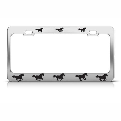 SAVE THE TIGER Chrome Metal Heavy Duty License Plate Frame Tag Border