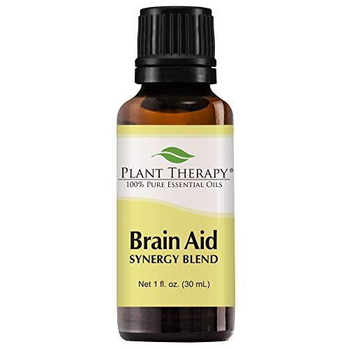 Plant Therapy Essential Oils Brain Aid Synergy - Focus & Attention Blend 100% Pure, Undiluted, Natural Aromatherapy, Therapeutic Grade 30 mL (1 oz)