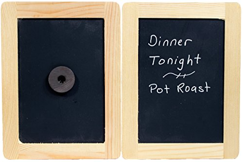 Creative Hobbies® Magnetic Backed Synthetic Chalkboard 4 inch x 6 inch with Wood Frame