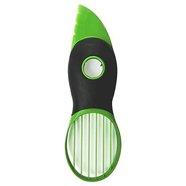 Defit 3-in-1 Avocado Slicer,Peeler,Skinner, Pitter and Scooper - Fruit Divider, Split & Pit & Slice, Green