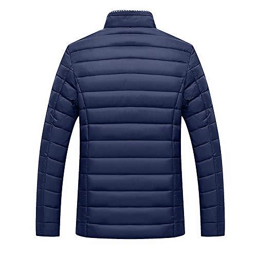 Winter Warm Tops Navy Jacket Coats koiu❀❀Men's Velvet Outwear Stand Give Soild Zip Collar Cotton Men's tH0nw