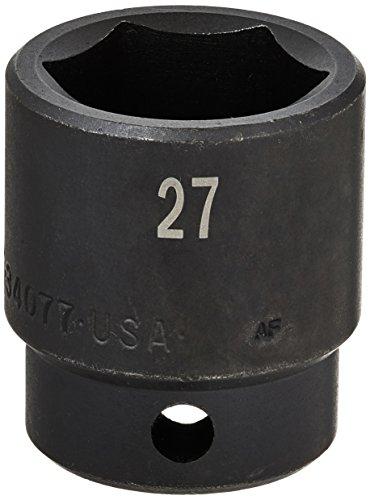 SK Hand Tool 34077 1/2-Inch Drive Standard Impact Socket, 27mm