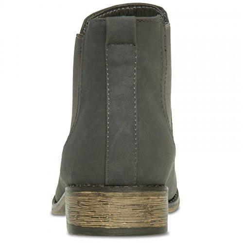 Damen EU39 klassische Boots dunkelgrau;Größe Stiefeletten US8 CASPAR SBO025 Farbe Chelsea UK6 5wHA5xg