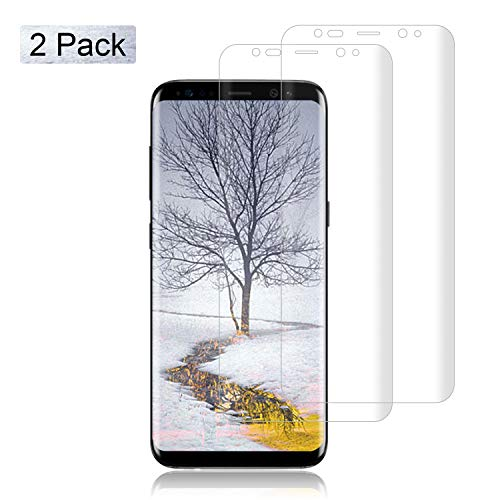 [2-Pack] Samsung Galaxy S8 Plus PET Screen Protection Film,Fitquipment [High Sensitivity] [Full Coverage] [NOT Glass] Premium 3D-Curved PET Screen Protector for Samsung Galaxy S8 Plus