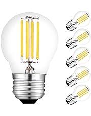 FANPING LED E27 Edison Screw Bulb 4W 470 Lumen Filament Bulbs Warm White Light 2700K G45 LED Light Bulb Replaces 40W Filament Lamp, 6 Pack