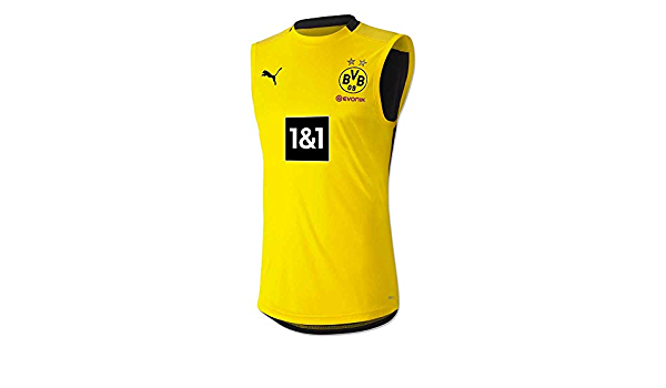 PUMA 2020-2021 Borussia Dortmund camisa sin mangas (amarillo ...