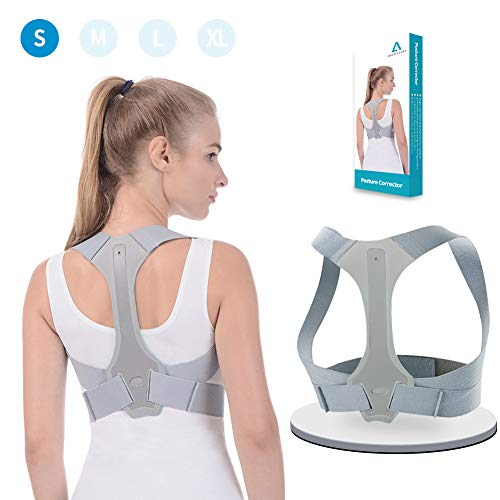 Anoopsyche Posture Corrector for Women and Men FDA Approved Upper Back Brace Comfortable Clavicle Support Device for Thoracic Kyphosis and Shoulder Neck Pain Relief (S)