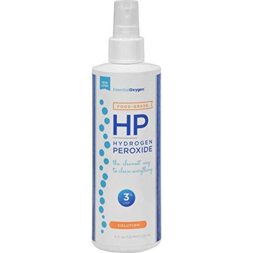 Essential Oxygen 3% Food Grade Hydrogen Peroxide, 8 oz.