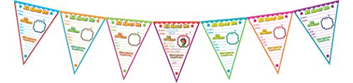 Teacher Created Resources All About Me Pennants Bulletin Board (5578) (The Best About Me)