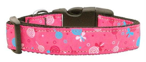 Mirage Pet Products Lollipops Nylon Ribbon Collar for Pets, Large, Bright ()