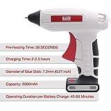 KeLDE Cordless Fine Tip Hot Glue Gun Kit, 30