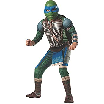 Rubies Teenage Mutant Ninja Turtles Deluxe Muscle-Chest Leonardo Costume, Medium