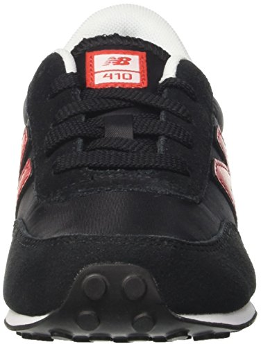 New Balance 410, Zapatillas Unisex Niños Multicolor (Black/red)