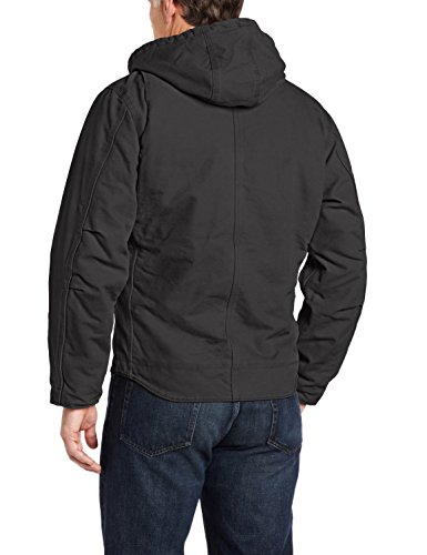Carhartt Men's Sherpa Lined Sandstone Sierra Jacket J141,Black,Large by Carhartt (Image #2)