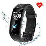 Letuboner Fitness Tracker, Color Screen Activity Tracker with Heart Rate Monitor Watch Pedometer,IP67 Waterproof Sleep Monitor Step Counter for Android and iPhone (Black)