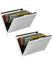 Porte-Carte de Crédit/Visite/Porte Monnaie/RFID Lutte Contre Criminel de Scanning - Cool Etui de Carte de Visite Slim Métal