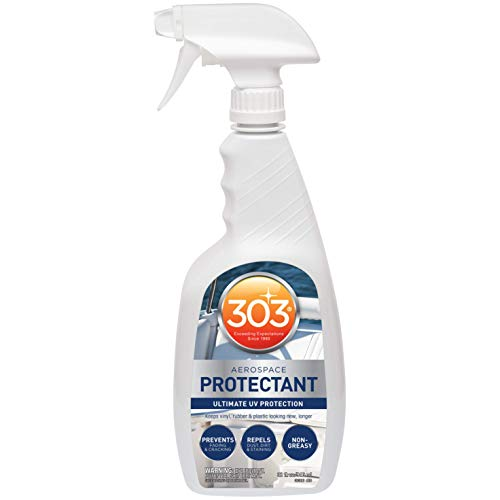 303 (30306-6PK) Marine UV Protectant Spray for Vinyl, Plastic, Rubber, Fiberglass, Leather & More – Dust and Dirt Repellant - Non-Toxic, Matte Finish, 32 fl. oz., (Pack of 6) ()