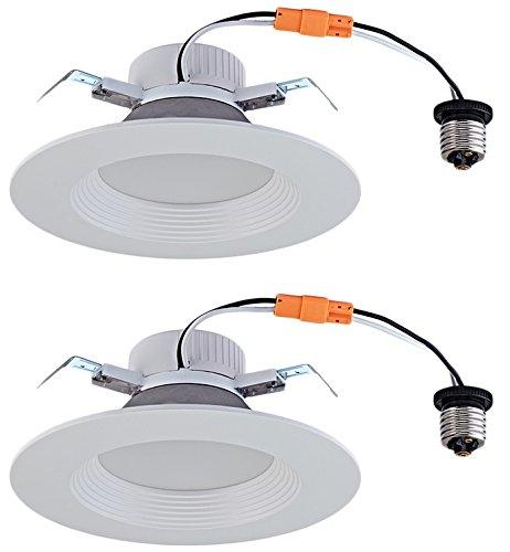 Utilitech 2-Pack 65-Watt Equivalent White Dimmable