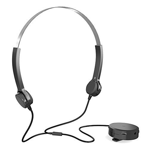 Docooler Audiphone Bone Conduction Headsets Hearing Aids Headphones Sound Pick-up AUX IN Black for Hearing Difficulties