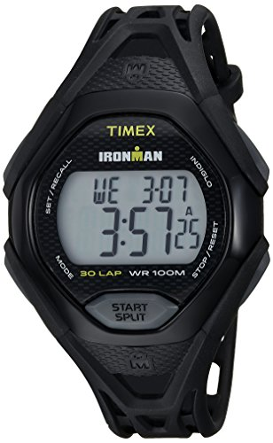 (Timex Men's TW5M10400 Ironman Sleek 30 Black Resin Strap Watch)