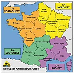 carte nord est france Carte IGN GPS Globe 1/4 France nord est 1/25000e: Amazon.fr: Auto