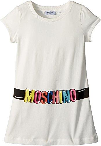 Moschino Kids Girl's Short Sleeve Tunic w/Logo Belt Graphic (Big Kids) Cloud 10 by Moschino Kids