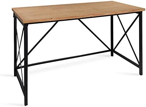 Kate and Laurel Lockridge Industrial Modern Farmhouse Style Wood and Metal Computer Desk Work or Craft Table
