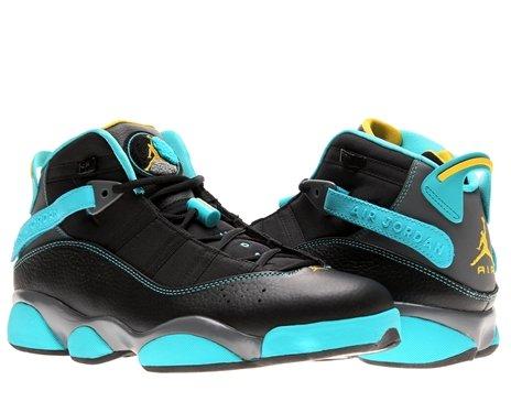 hot sale online cbb49 ea7b8 NIKE Jordan 6 Rings Men Sneakers Black/Cool Grey/Gamma Blue/Varsity Maize  322992-089 (SIZE: 11)