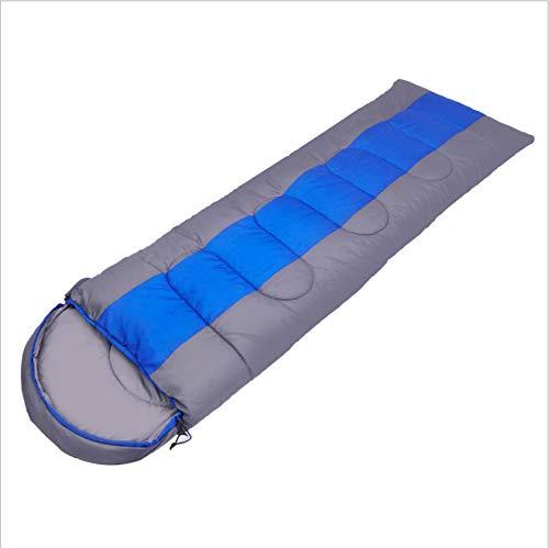 Kanmeipp Sac De Couchage Adulte Extérieur Camping Lunch Break Voyage Camping Sac De Couchage Simple Double Peut Être Cousu 1,0 kg s 220 x 75 cm Bleu