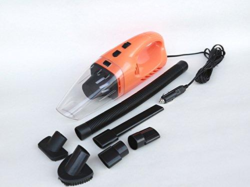 Meiyiu - Aspirador de Coche para aspiradora de 120 W (portátil, Secado húmedo, Doble Uso), Anaranjado