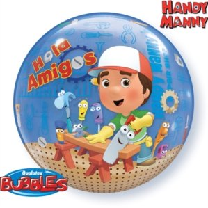 Handy Manny Party Bubble Balloons Size 22 inches Type 3 Dimensions