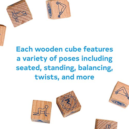 Yoga Dice: 7 Wooden Dice, Thousands of Possible Combinations! (Meditation Gifts, Workout Dice, Yoga for Beginners, Dice Games, Yoga Gifts for Women)
